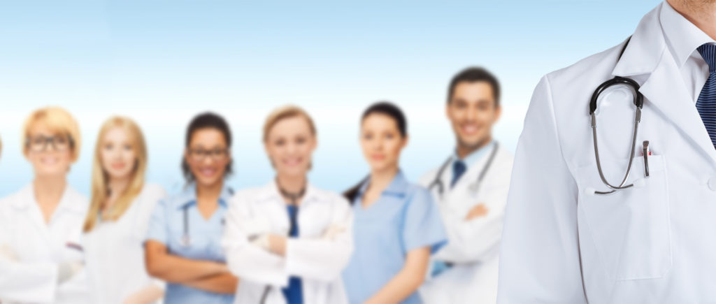 Group of doctors and nurses for SBS healthcare page