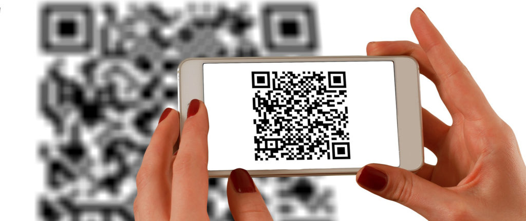 Mobile phone QR code