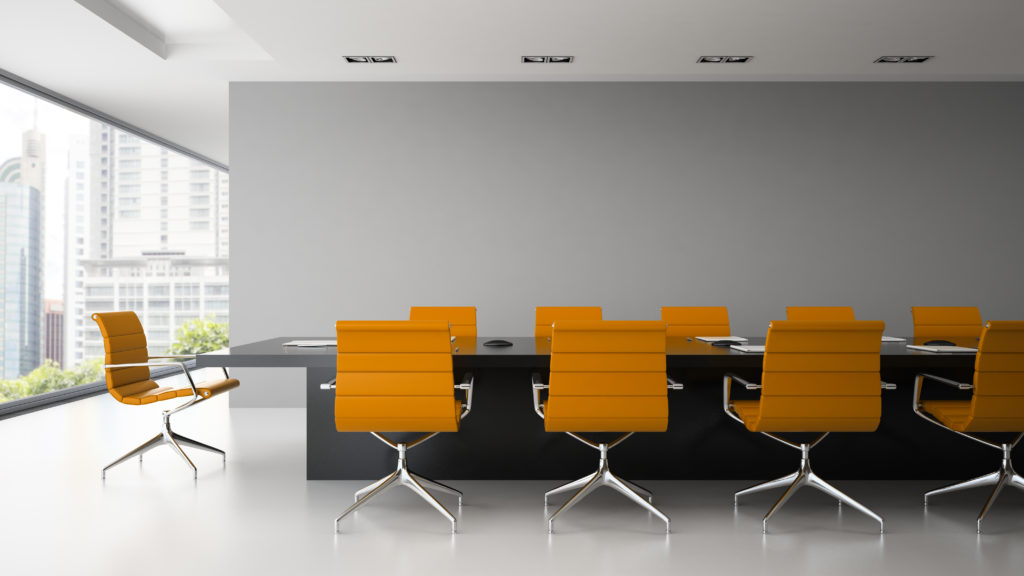 Boardroom with armchairs SBS management