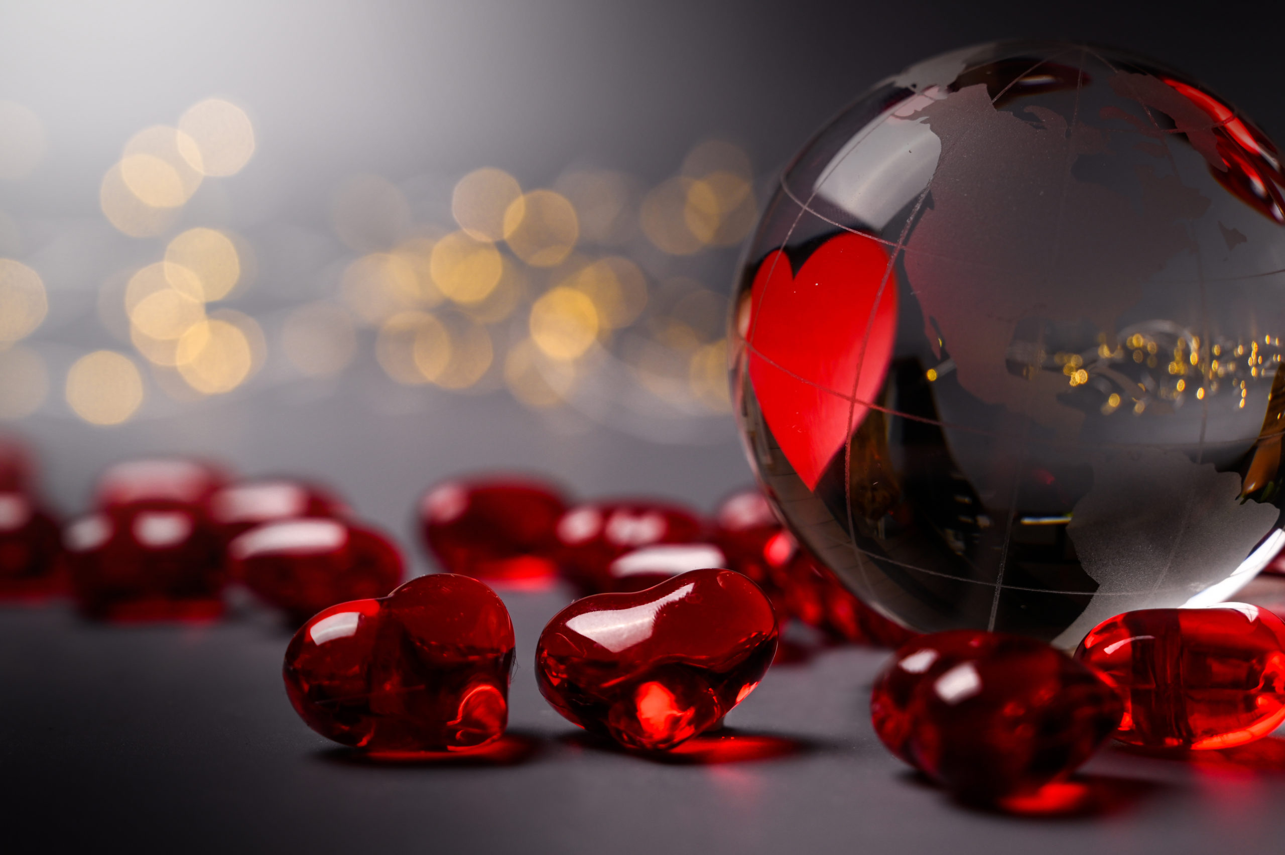 Blog Featured Image - Lovley globe heart for valentine's day