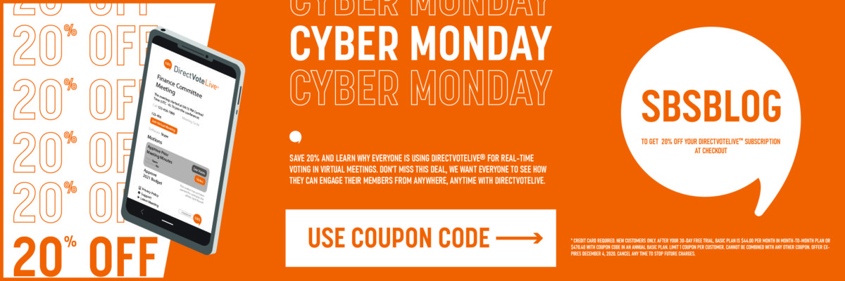 Cyber Monday Promo Code for Online Voting in Member Elections and Virtual Meetings