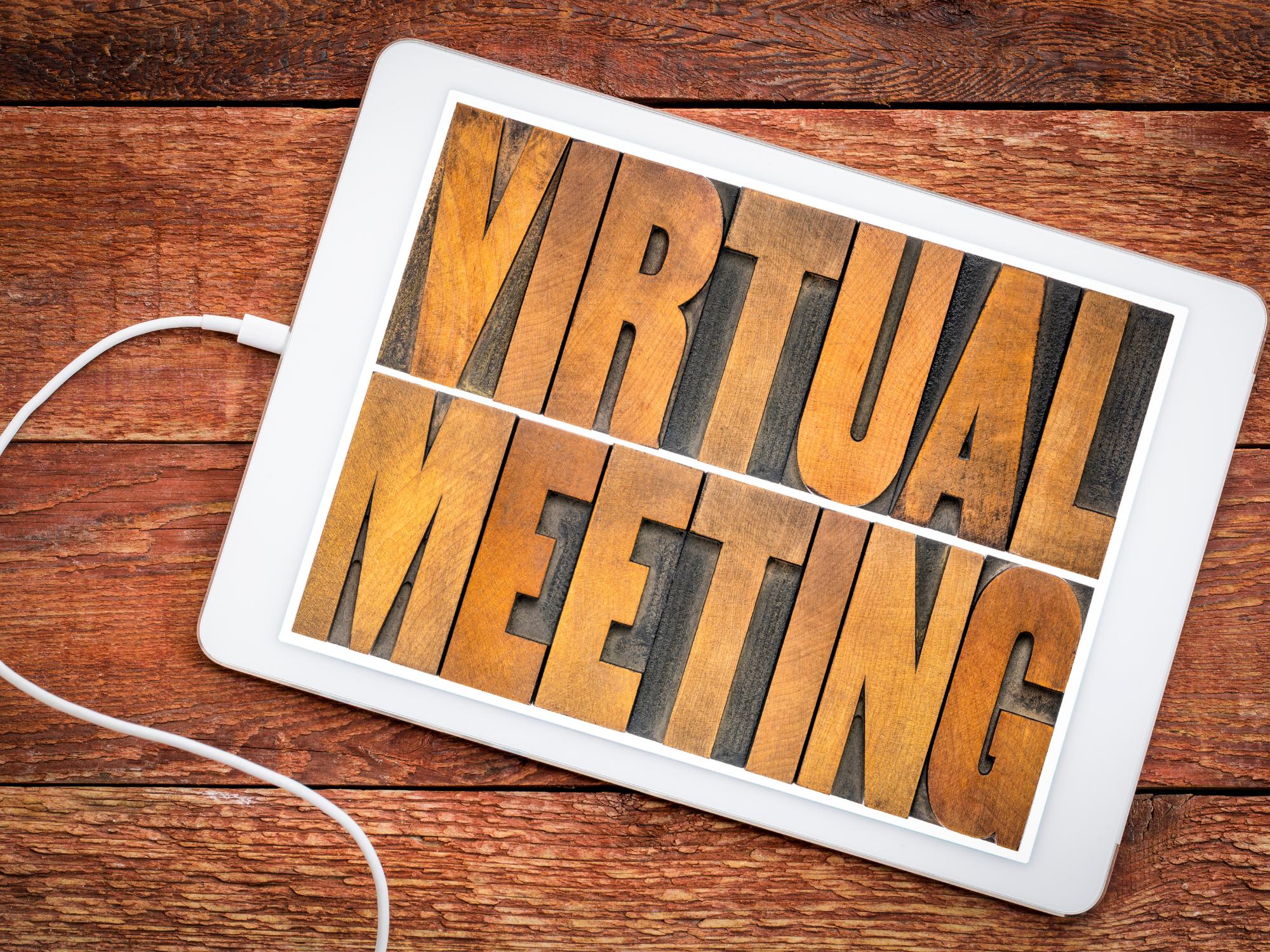 virtual meeting tablet